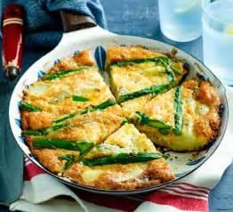 Asparagus amp new potato frittata