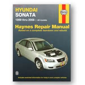 2006 Hyundai Sonata Repair Manual Haynes 2005 2006 Hyundai Sonata Gl Repair Manual Garage