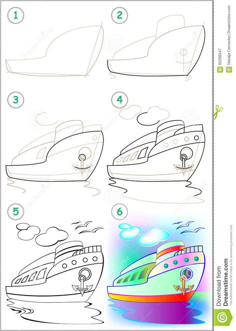 video on steps to show you how to corn row hair thats easy page shows how to learn step by step to draw a ship stock
