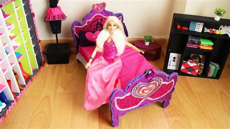 how to make a barbie bed how to make a barbie doll bed tutorial doll crafts