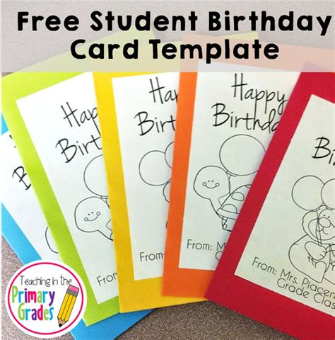 Student Birthday Card Template 25 best ideas about class birthdays on