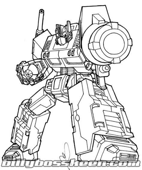 Optimus Prime Coloring Page by Free Optimus Prime Coloring Pages For
