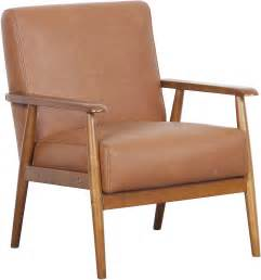 Furniture Frames For Upholstery by Lummus Cognac Wood Frame Upholstered Accent Chair From