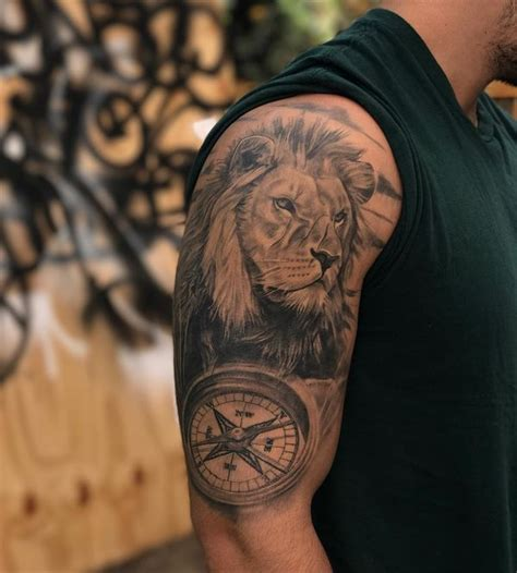 compass lion tattoo compass tattoo designs with meaning nautical compass