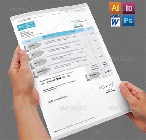 creative invoice template 20 beautifully designed indesign invoice templates pixel