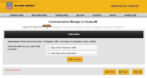 union pacific career guide union pacific application