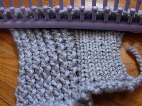 knitting loom the casual loom knitter stockinette stitch