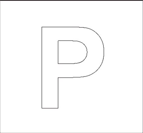 letter p template alphabet stencils all network