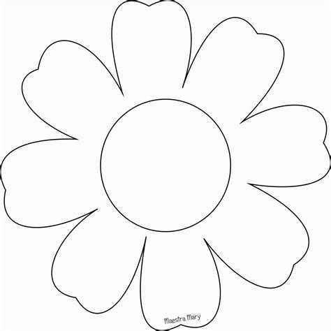 fiore da colorare e ritagliare sagome per la primavera maestra dentro fiori da
