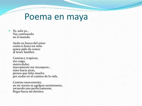 Poemas E N Lengua Indigenas | lengua maya