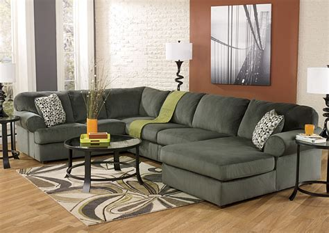 jessa place sectional pewter best buy furniture and mattress jessa place pewter right