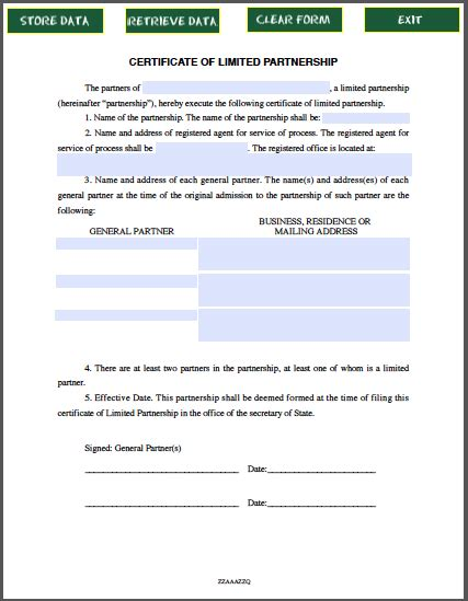 certificate of incumbency template limited partnership certificate template free fillable