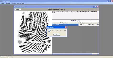scan program finger scanner software demo