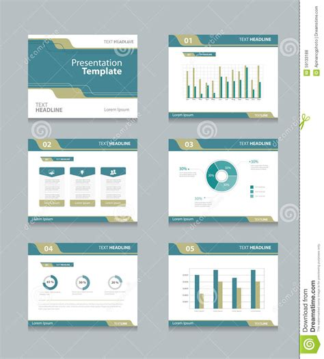 slide layout en español vector template presentation slides background design info