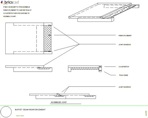 Countertops Corian Price How To Reinforce Buffet Counter Seams Aia Cad Details