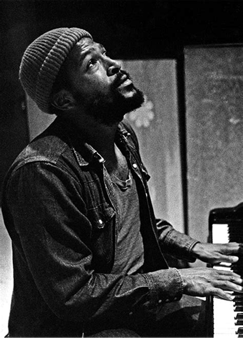 GET IT ON, BABY: Marvin Gaye directing his musicians at
