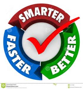 smarter faster better words perfect choice check mark