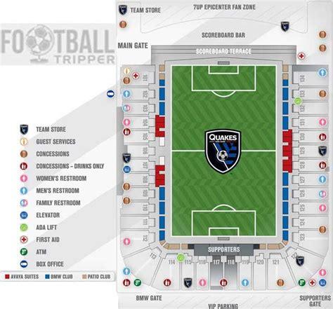 san jose earthquakes stadium map avaya stadium guide san jose earthquakes football tripper