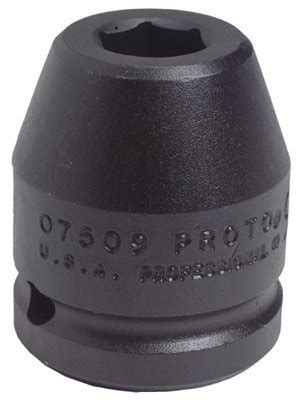 Kunci Sock 1 18 34 Drive Socket 6 Point Crossman Usa proto 7518 3 4 quot drive 1 1 8 quot 6 point black oxide impact socket homelectrical electrical supply