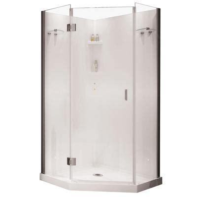 Keystone By Maax Yarrow Neo Angle Polystyrene Frameless Keystone Shower Doors