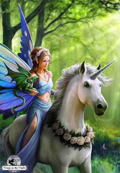 Wiccan Home Decor anne stokes realm of enchantment unicorn greeting card