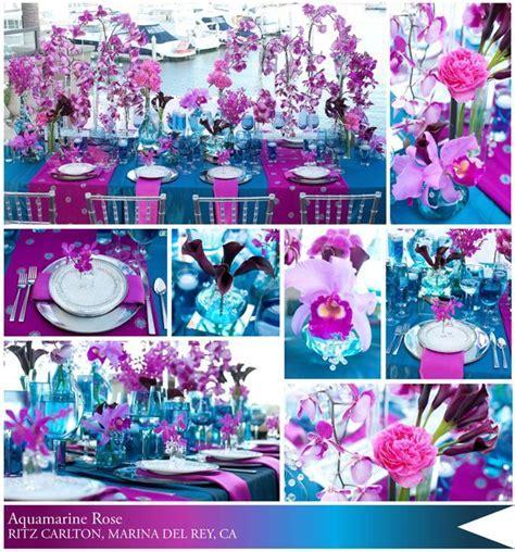 turquoise and fuschia   Aqua Blue and Fuschia Weddings