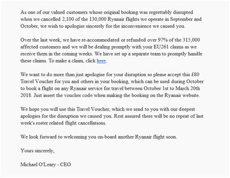 Complaint Letter Money Saving Expert ryanair offers up to 163 80 in vouchers following flight cancellations