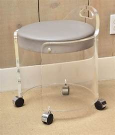 lucite bathroom vanity chair on wheels decofurnish