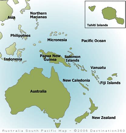 australia pacific map south pacific map
