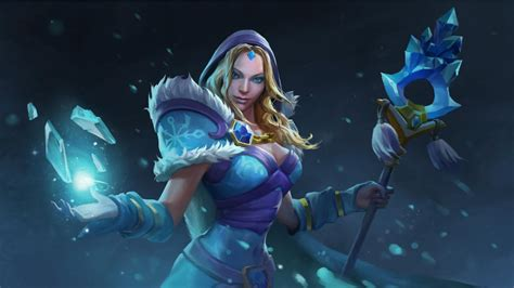 dota 2 rylai wallpaper crystal maiden dota 2 wallpapers hd download desktop