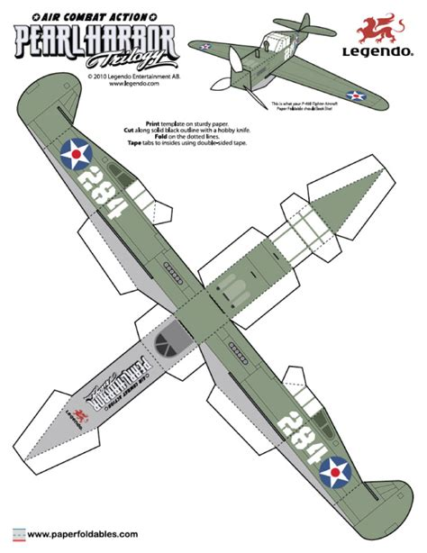3d Airplane Card Template by Papertoys Pearl Harbor Trilogy Pearl Harbor Paper Toys