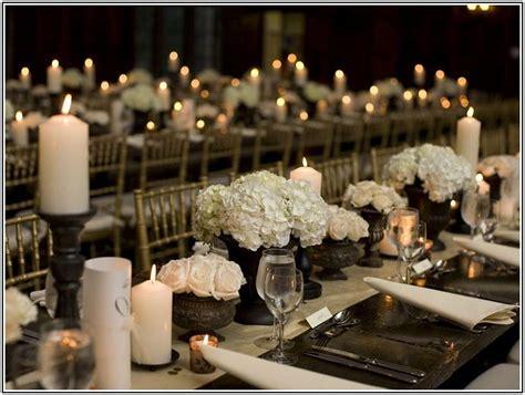 centrotavola fiori e candele centrotavola per il matrimonio con le candele foto
