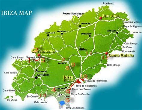 san jose map ibiza map of ibiza travelquaz