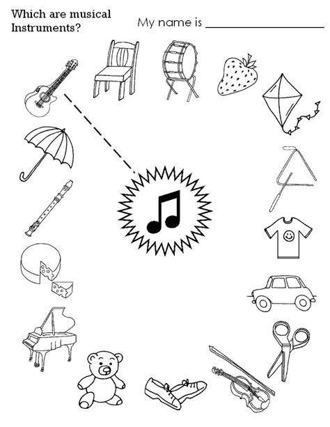 printable music games for kindergarten instrument worksheets for kids musicalizando com alegria