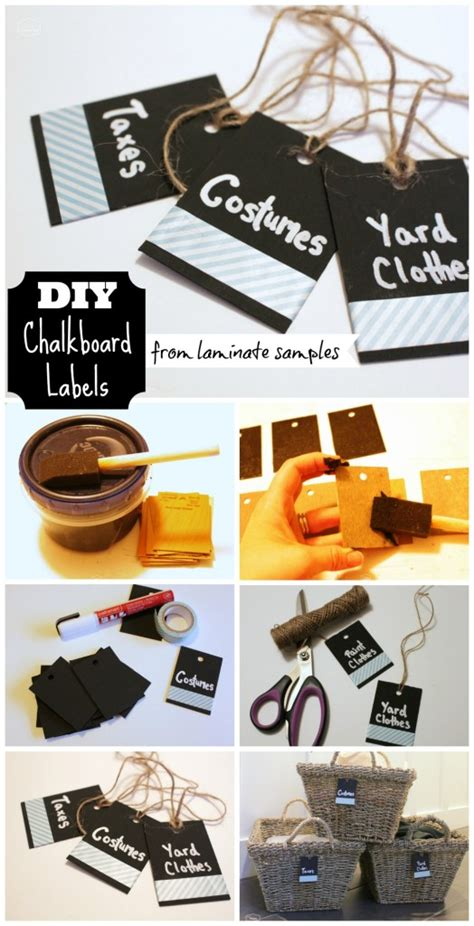 easy diy chalkboard labels from laminate sles the
