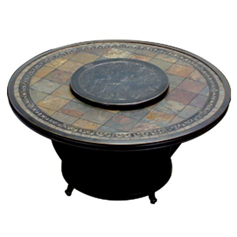 Agio Cast Aluminum Fire Pit Burner Cover Lazy Susan Firepit Burners