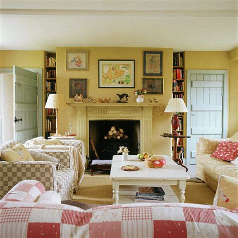 country chic living room ideas living room with country style checks ideal home