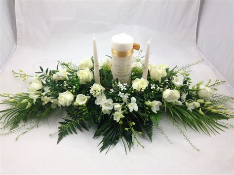 Flower Wedding Arrangement by Wedding Candle Arrangement Unity Candle Arrangement