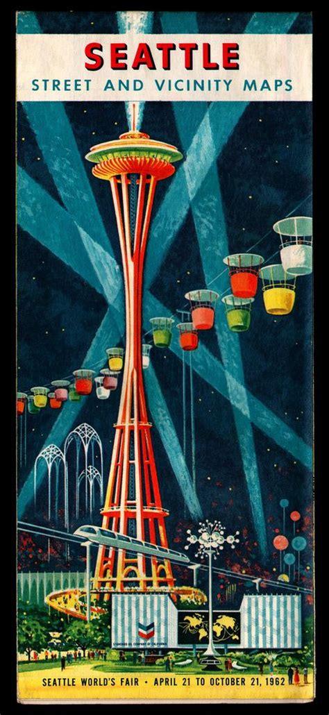 seattle map space needle seattle map 1962 1962 seattle world s fair