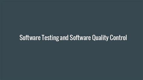 software testing career