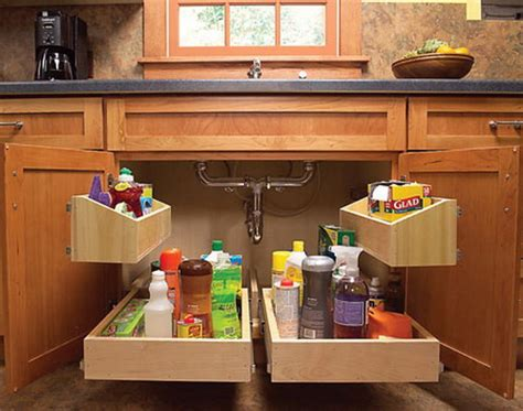 kitchen sink cabinet organizer creative under sink storage ideas hative