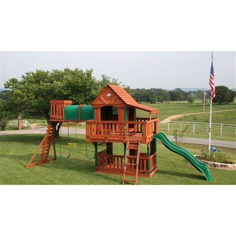 canopy for wooden swing set treasure trove swing set with wood roof canopy cedar