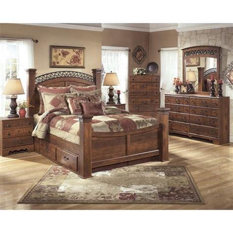 timberline bedroom set ashley timberline 6 piece wood king drawer panel bedroom