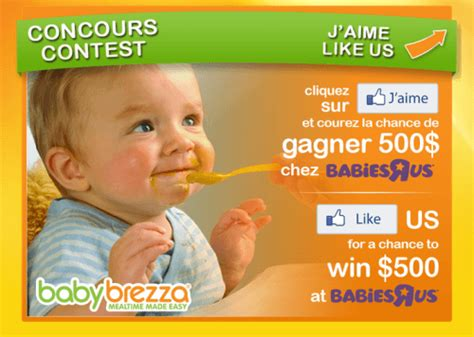 Babies R Us Gift Card Balance Canada - babies r us and baby brezza canada contests win a free 500 gift card canadian
