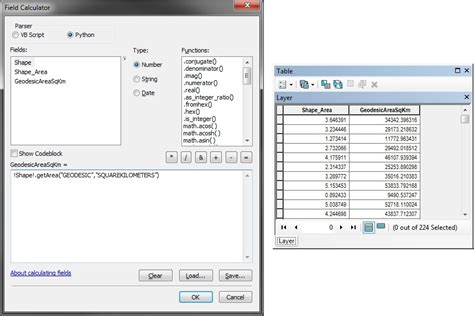 calculator area calculating geodesic areas in arcmap with field calculator