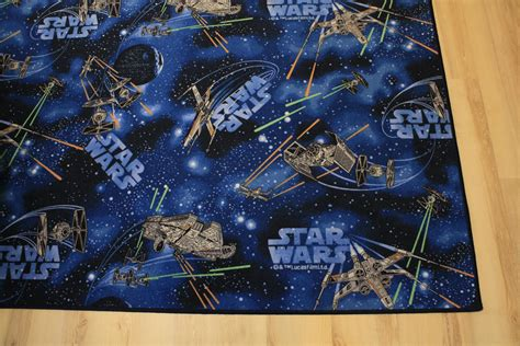 Children Rug Play Carpet Star Wars Blue 200x480 Cm Wars Bathroom Rug