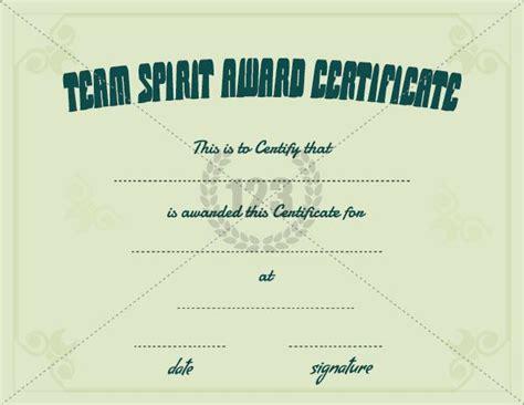 team awards certificates templates team spirit award certificate template free download