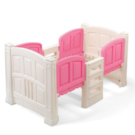 step 2 bunk bed girl s loft storage twin bed kids bed step2