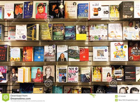 bookstore bookshelves novels in book store editorial stock photo image of