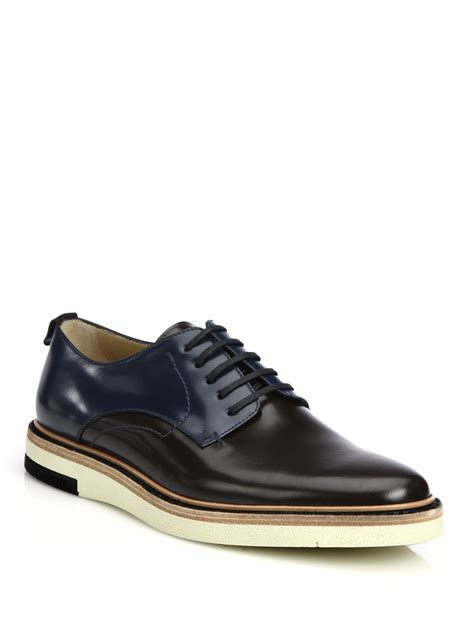 Homypro Hunt Sneakers Navy fendi colorblocked leather lace up shoes for lyst